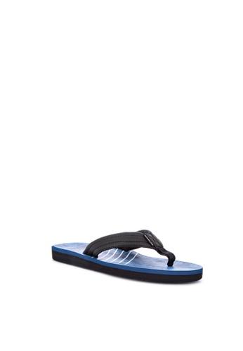 Quiksilver blue Carver Print Slippers 4B7AFSH77D78B3GS_1