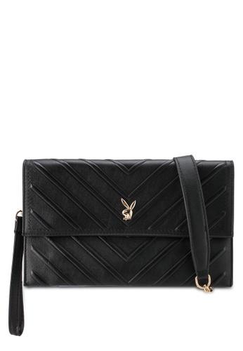 PLAYBOY BUNNY black Ladies Clutch/Sling Bag 305F6ACA96039BGS_1