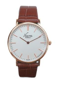 Ibarra 36mm Leather Dress Watch