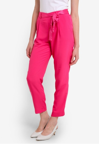 Dorothy Perkins pink Pink Tie Joggers DO816AA0REWNMY_1