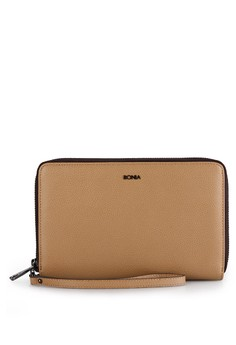 Image of Dark Beige Long Zip Purse