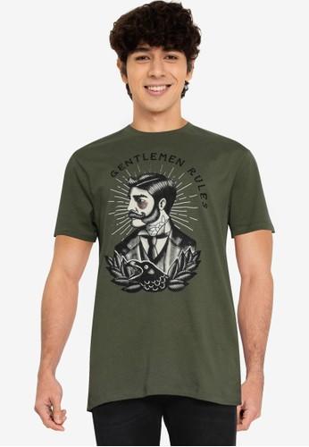Springfield green Gentleman T-Shirt 4A067AA4FD43FFGS_1