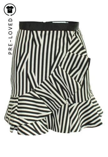 Self-portrait Pre-Loved self-portrait Striped Mini Skirt with Frill. 42E58AAF08B8D1GS_1