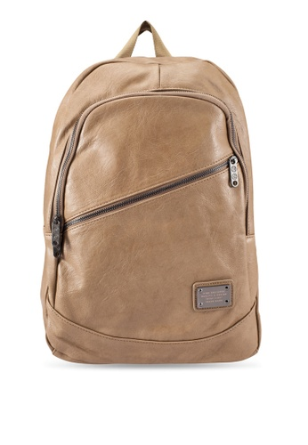 High Cultured beige Faux Leather Backpack HI002AC0S1WVMY_1