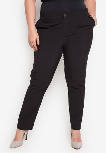 Divina black Plus Size Pants DI567AA0JAFEPH_1