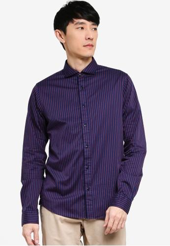 Scotch & Soda navy Regular Fit - Classic Blue Yarn-Dyed Poplin Shirt 36086AA237796CGS_1