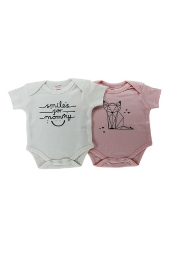 Mellow white and pink Mellow 2 Set Rompers A037CKA5C04F09GS_1