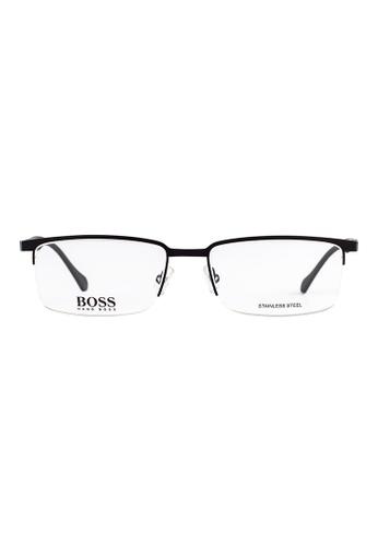 Hugo Boss black HUGO BOSS Rectangle Black Eyewear 0829 HU898AC40OWDMY_1