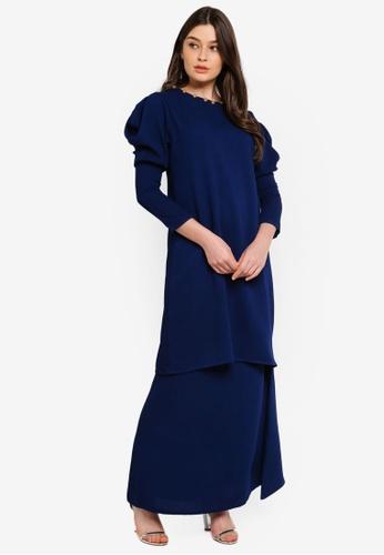 Serena Modern Kurung from UMMA in Blue