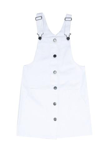 FOX Kids & Baby white Overall Denim Dress 6329AKA1F89218GS_1