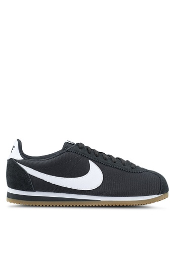 Nike black and white and brown Nike Classic Cortez Nylon Running Shoes B3A99SHD02F46AGS_1