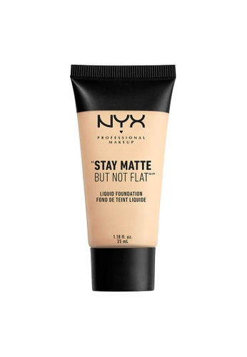NYX Professional Makeup beige NYX Professional Makeup Stay Matte But Not Flat Liquid Foundation -IVORY AD92DBEBCDA25FGS_1