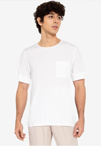 ZALORA BASICS white Expose Stitch T-Shirt B5787AACDC6BBFGS_1
