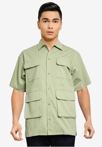 niko and ... green Short Sleeves Cargo Shirt D0DFDAA4C3C7EEGS_1