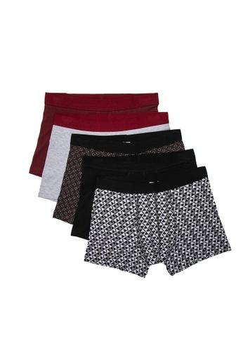 KOTON red 5 Packs Men's Boxers E419EUS9C577C7GS_1