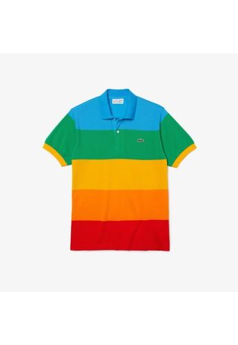 Lacoste multi Men's Polaroid Collaboration Color Striped Classic Fit Polo 479EEAA9CCDCA0GS_1