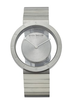 Seven Briller Insight Floating Dial Quartz Silver Stainless Steel Premium Men's Wrist Watch