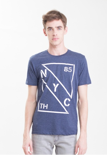 Drum NYC 85th Graphic Tee-navy Blue DR425AA0SAQ8MY_1