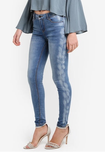 Something Borrowed blue Side Seam Detail Skinny Jeans 43385ZZ0C7BB5EGS_1