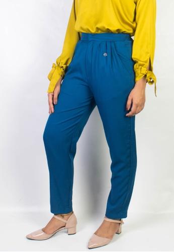 Zaryluq blue Dress Pants in Blue Latte E0174AA0599675GS_1