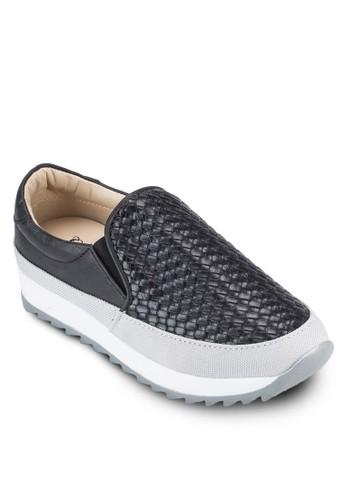 Crystal Korea Fashion 編織紋理皮革懶人鞋,zalora鞋子評價 女鞋, 懶人鞋