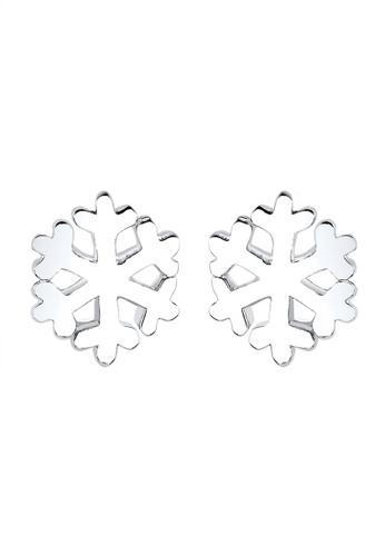 ELLI GERMANY silver Snowflake Earring 925 Sterling Silver EL474AC0SEUZMY_1