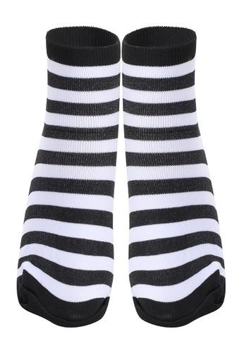 Hamlin multi Hamlin Seish Kaos Kaki Pendek Pria Wanita Zebra Stripe Socks Casual Footwear Material Spandex ORIGINAL 45004AAD6A69B7GS_1