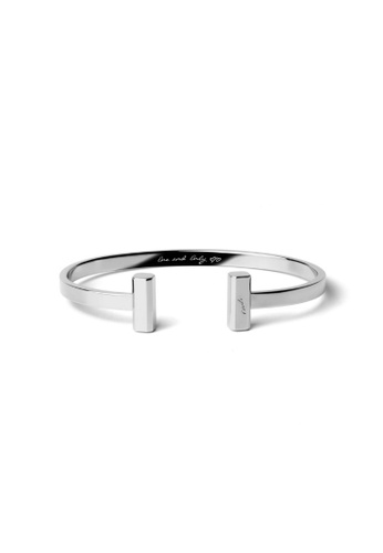 Crudo Leather Craft silver Eterno Bangle - White Gold 1E644ACEF7F4C4GS_1