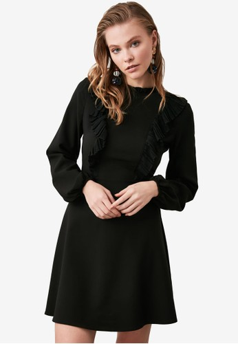 Trendyol black Ruffle Detailed Dress BABFAAA116F12AGS_1