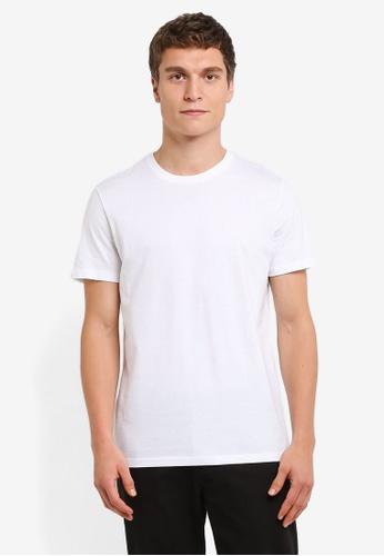 Burton Menswear London white White Basic Crew Neck T-Shirt BU964AA0RSIJMY_1