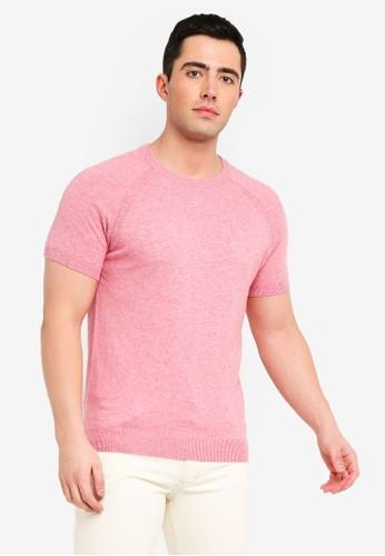 MANGO Man pink Cotton Linen-Blend Knit T-Shirt 562B8AA1CAE8FDGS_1