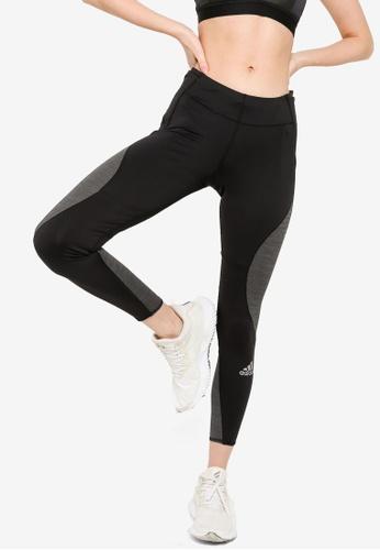 ADIDAS black fast running primeblue leggings 2AD7AAAB676F42GS_1