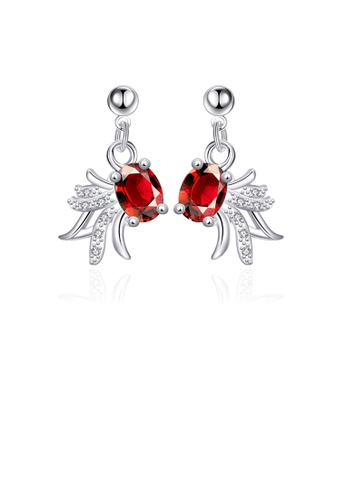 Glamorousky red Elegant Fashion Golden Fish Red Cubic Zircon Earrings 20746ACB159709GS_1