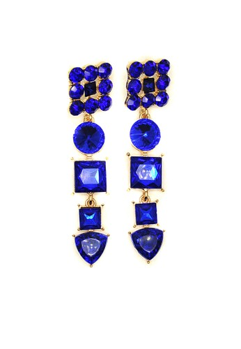 Istana Accessories blue Anting Jelin Fashion Earring - Biru 0551EAC1492FBCGS_1