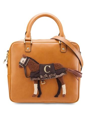 Terry 小馬造型托特zalora 手錶包, 包, 包