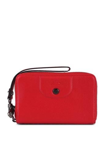 LONGCHAMP 紅色 Le Pliage Cuir Compact Wallet (zt) 8E830ACB3DD192GS_1
