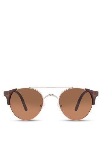 JP0228 雙鏡esprit門市地址橋圓框太陽眼鏡, 飾品配件, 飾品配件