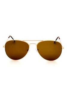 e6a4fadaabe2 Unisex Metal Pilot Sunglasses In Brown EL890AC0FEZHSG 1 Elitrend ...