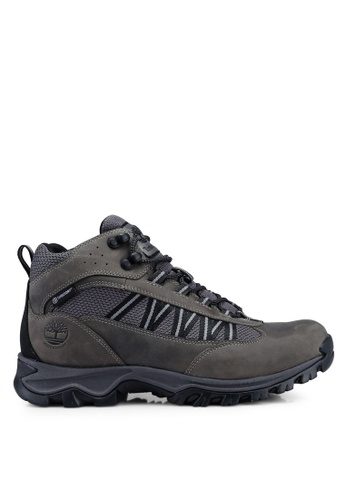 Timberland grey Mt. Maddsen Lite Mid Waterproof Hiking Boots 9140DSH8618726GS_1