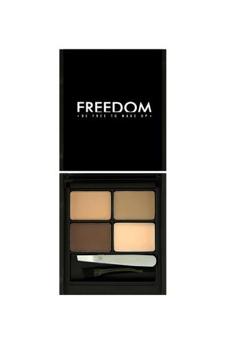 Freedom Makeup Freedom Pro Eyebrow Kit Pro Light - Medium FR785BE09DNASG_1