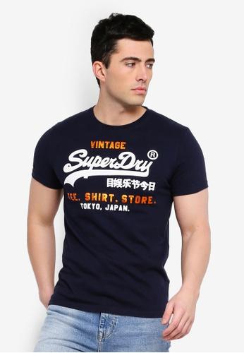 Superdry 海軍藍色 Shirt Shop Tee 385E0AA0EEC4F5GS_1