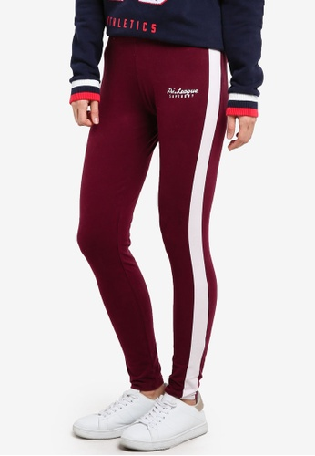 Superdry red Tri League Graphic Leggings SU137AA0SI3NMY_1