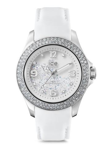 Ice Crystaesprit retaill 皮革晶鑽圓錶, 錶類, 奢華型