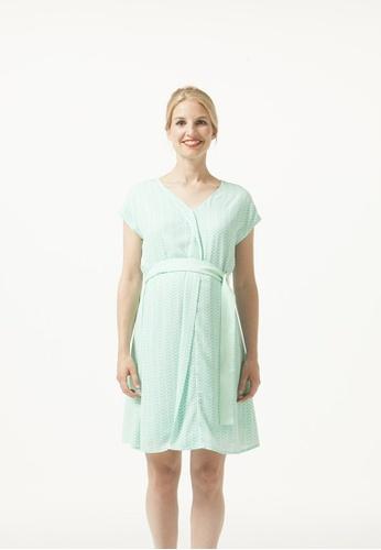 Bove by Spring Maternity green Kimono Sleeved Zara Chevy Nursing Dress Mint Print BE3B7AA9804CDDGS_1