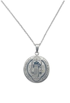 Stainless Steel St. Benedict Long Necklace JMSW