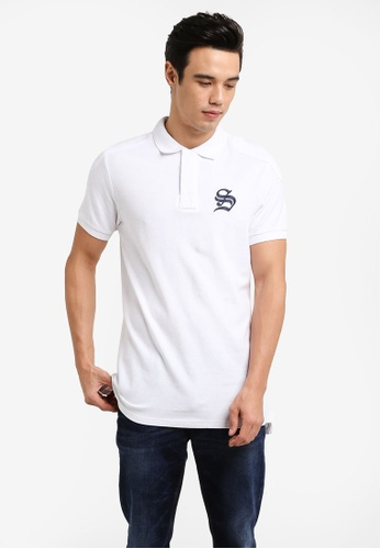 Cotton On white Short Sleeve Collegiate Polo Shirt CO372AA98JRDMY_1