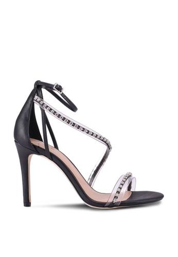 Call It Spring 黑色 Zihna Open Toe Cross Strap Heels 829A8SHAEA4A4EGS_1