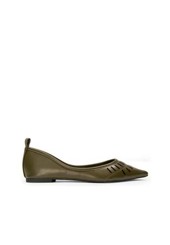 SEMBONIA green SEMBONIA Ballet Shoe (Deep Green) D584BSH52850B0GS_1