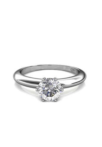 ba9f498be Her Jewellery silver Her Jewellery Grace Ring embellished with Crystals  from Swarovski HE581AC0RDPDMY_1