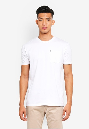 Penshoppe white Relaxed Fit Pocketed T-Shirt 43A99AAD3788F3GS_1
